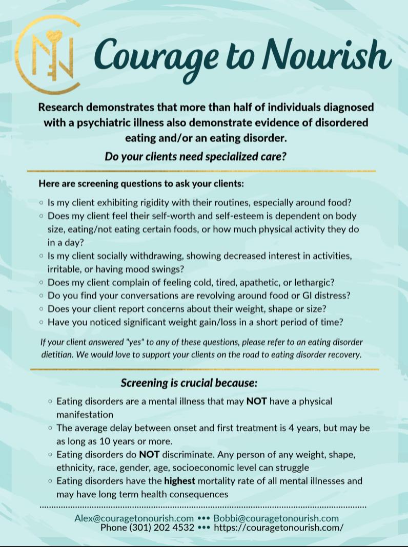 therapist eating disorder screening tool