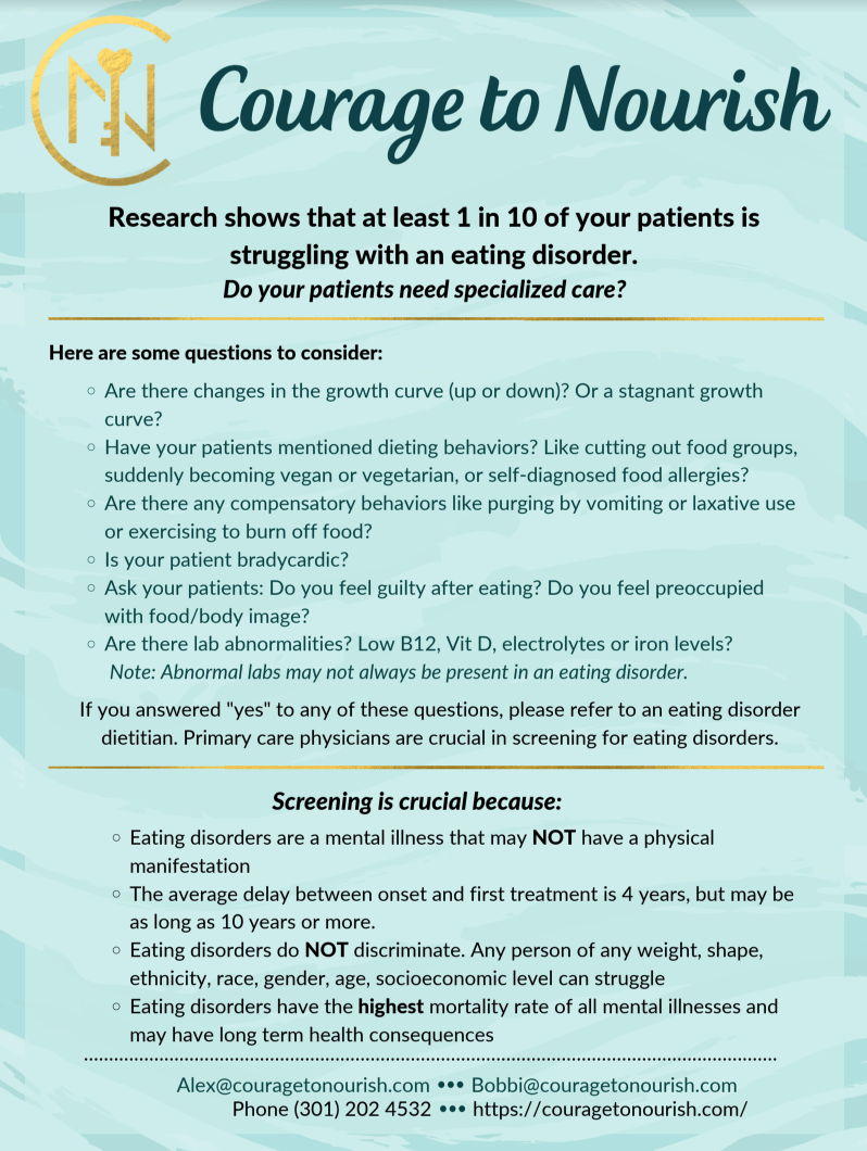 eating disorder screening tool for doctors