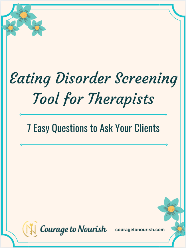 eating disorder screening tool for therapists