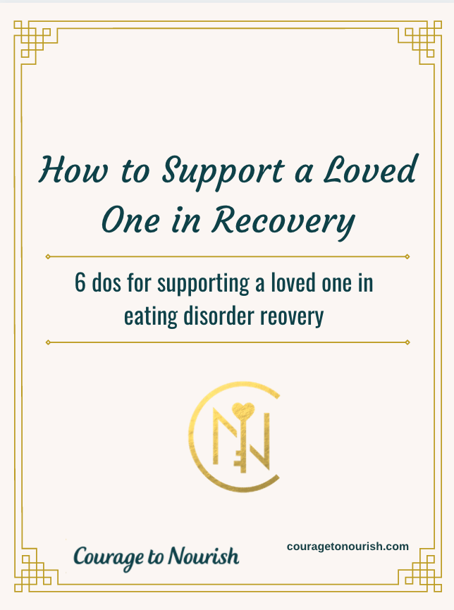 how to support a loved one with an eating disorder