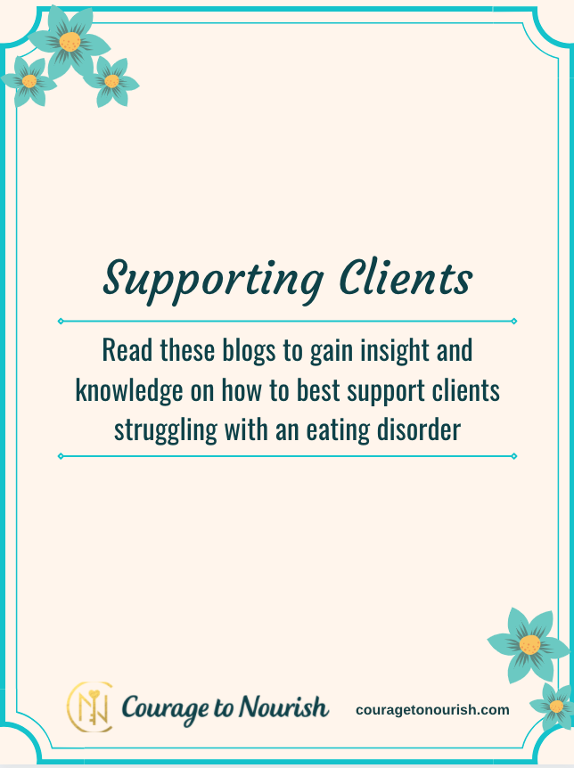 supporting clients with an eating disorder